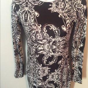 ASOS Dresses - Asos Dress Black & White Patterned Fitted SZ 0